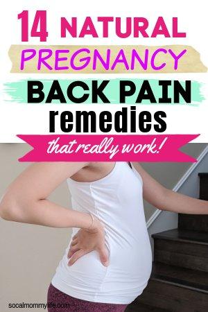 pregnancy back pain remedies
