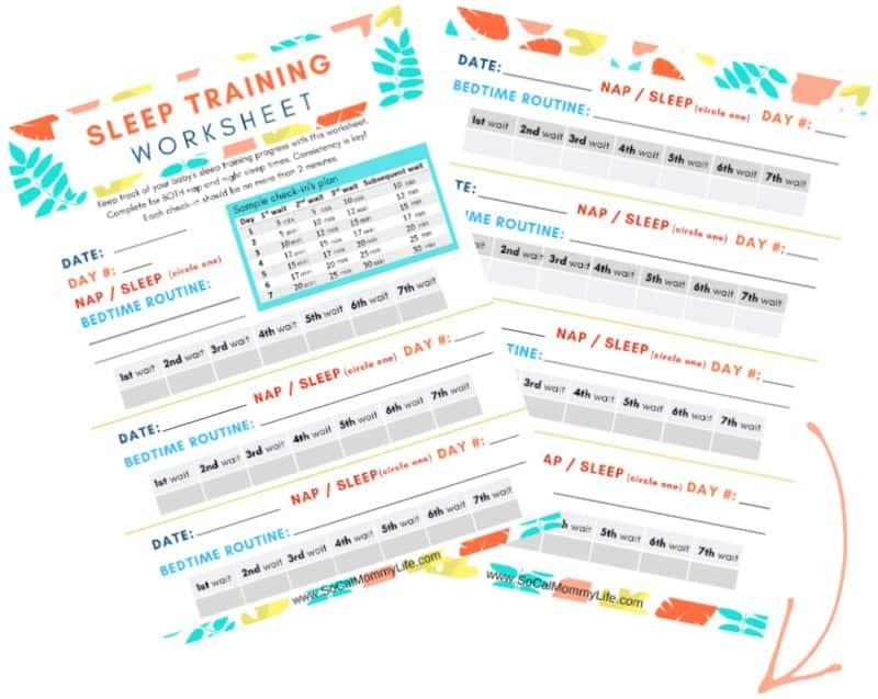 ferber method sleep training chart