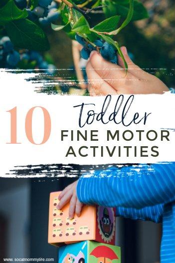 10 toddler fine motor activities