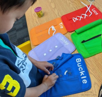 dressing skills  as activity for toddler fine motor