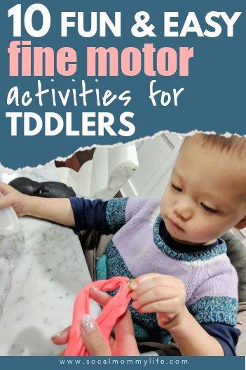 easy toddler fine motor activities