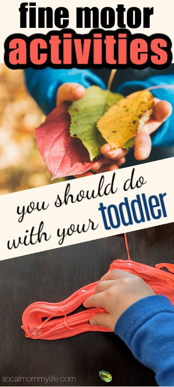 fine motor activities for toddlers